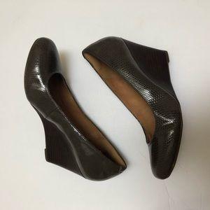 Clarks Brown Artisan Wedge Heel